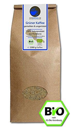 Grüner Kaffee bio gemahlen - Honduras