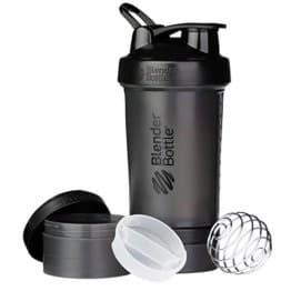 BlenderBottle Prostak Protein Shaker/Diät Shaker (650ml, skaliert bis 450ml, mit 2 Container 150ml & 100ml, 1 Pillenfach) S