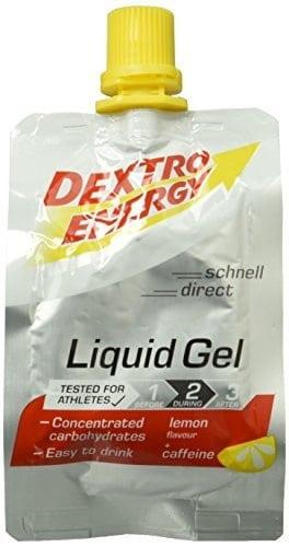Dextro Energy Flüssiges kohlenhydratreiches Konzentrat-Gel mit Koffein für Ausdauer- & Leistungs-Sportler - leicht trinkbar / 6 Beutel (6 x 60ml)