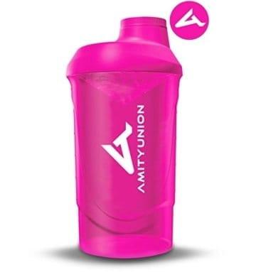 Frauen Protein Shaker 800 ml Pink Deluxe - ORIGINAL AMITYUNION