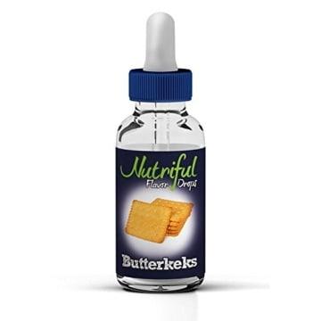 Geschmackskonzentrat Butterkeks, Nutriful Flavor Drops 30ml, 0kcal - 1