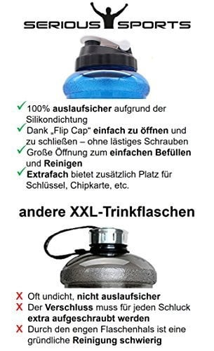 SERIOUS SPORTS Trinkflasche XL mit Aufbewahrungfach